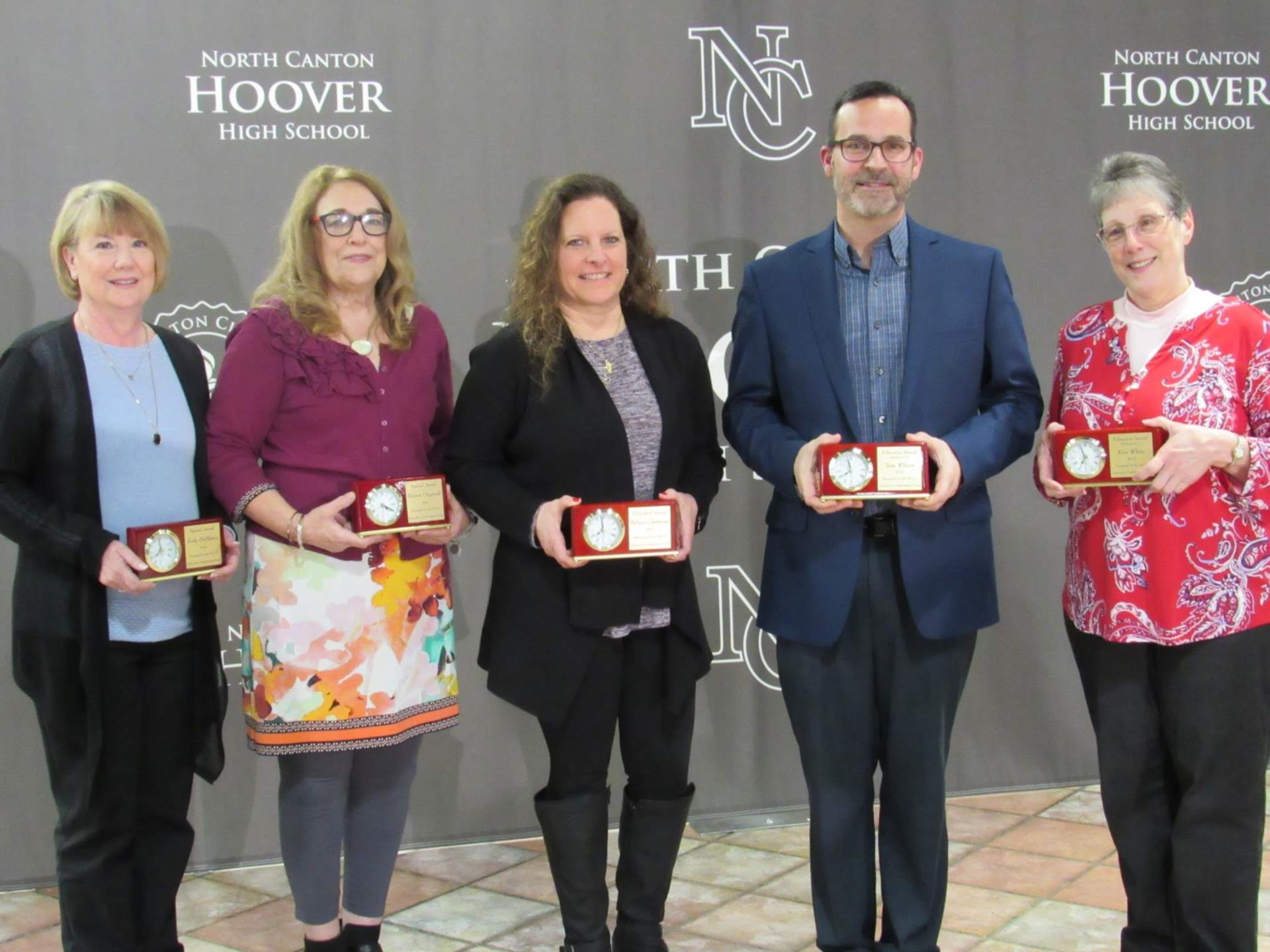 four women and one man honored by the Education Endowment
