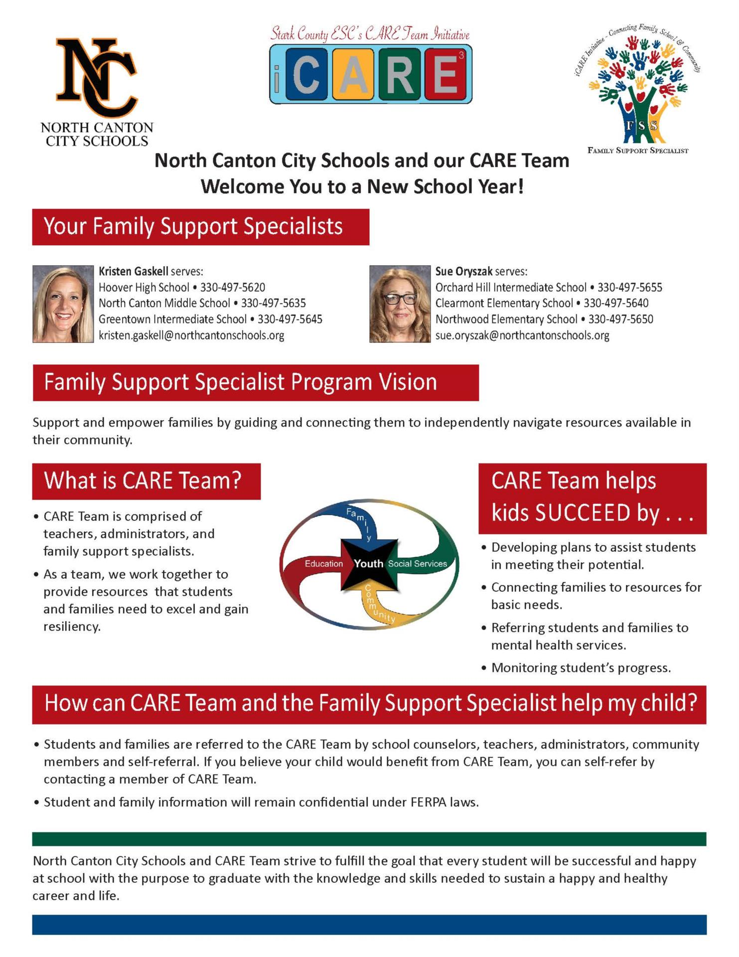 description and photos of family support specialists