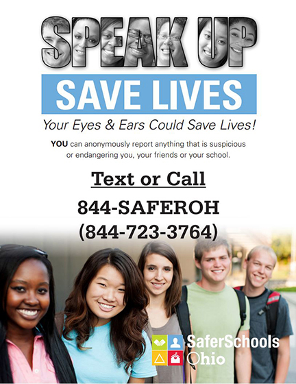 Poster promoting Save Lives