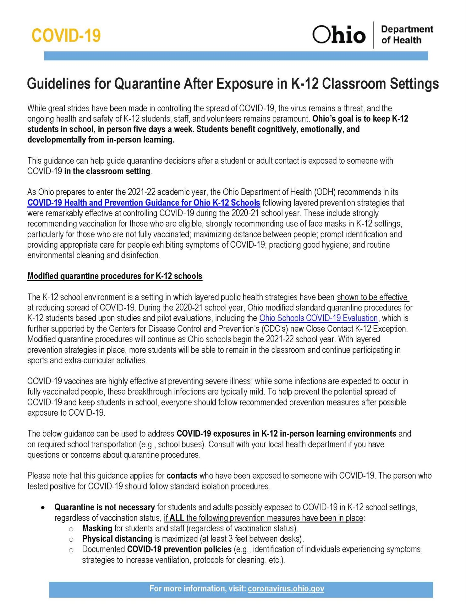 ODH Guidelines
