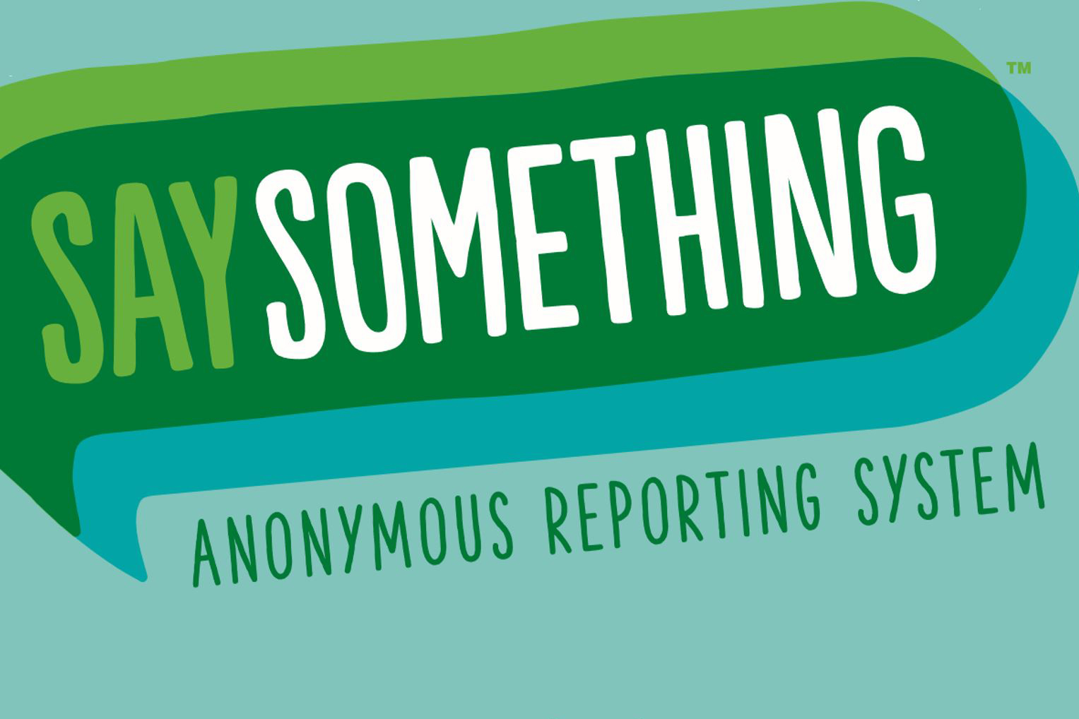 Green logo for say something reporting system