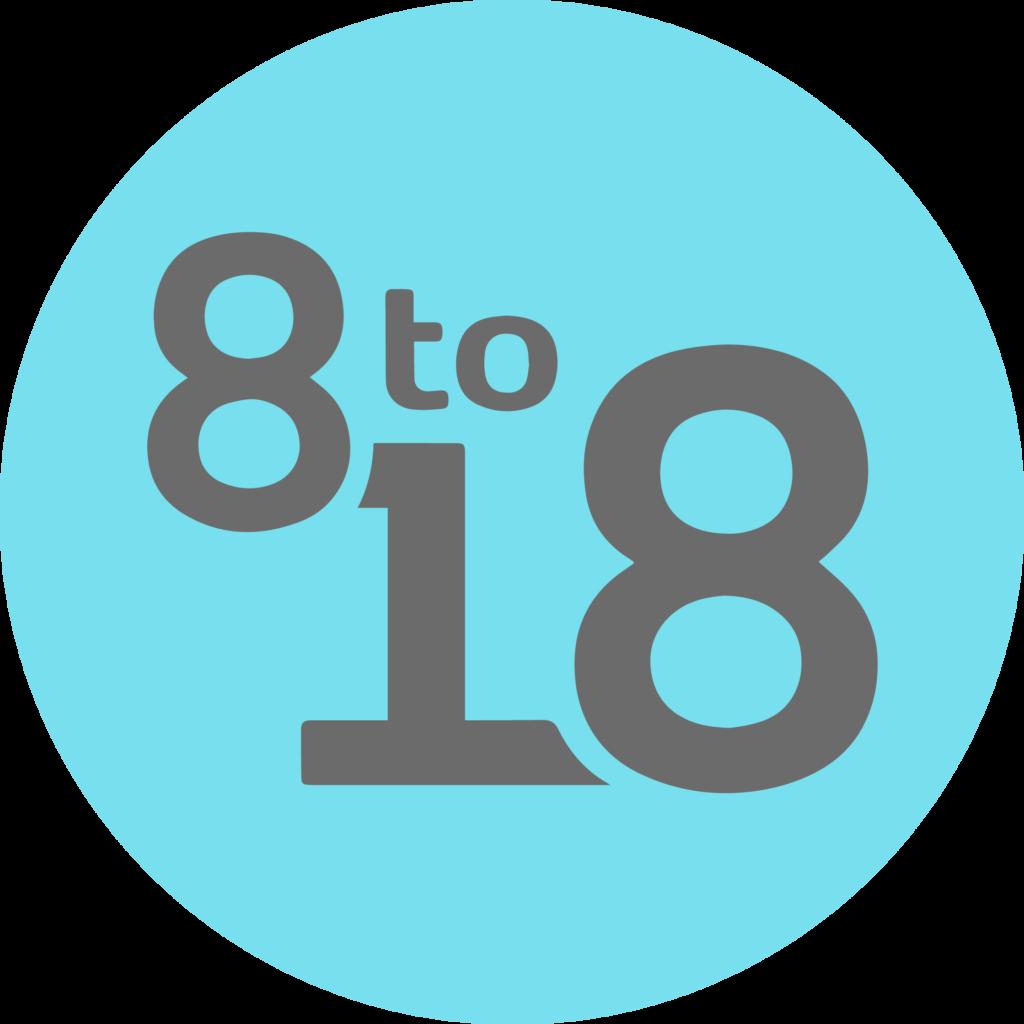 8 to 18 Logo
