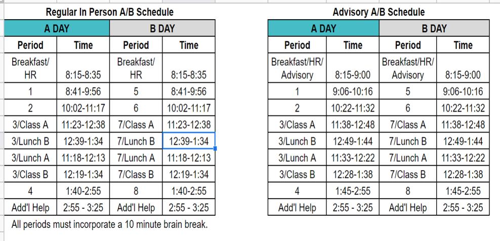 AB Regular_Advisory Schedule