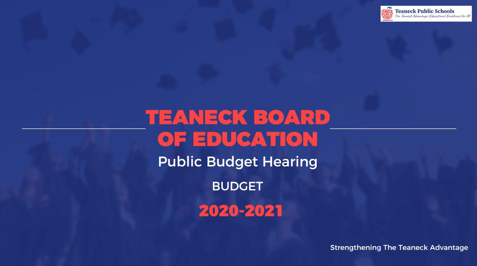 Budget Hearing 2020-2021
