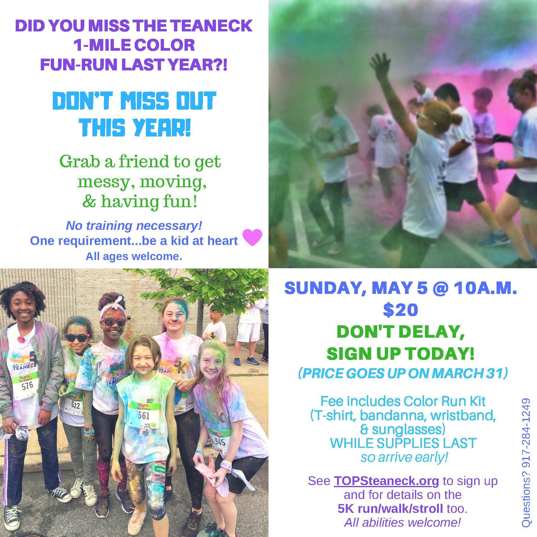 1-Mile Color Run