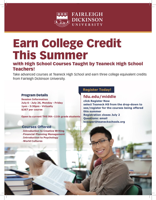 FDU Program - Earn College Credits This Summer