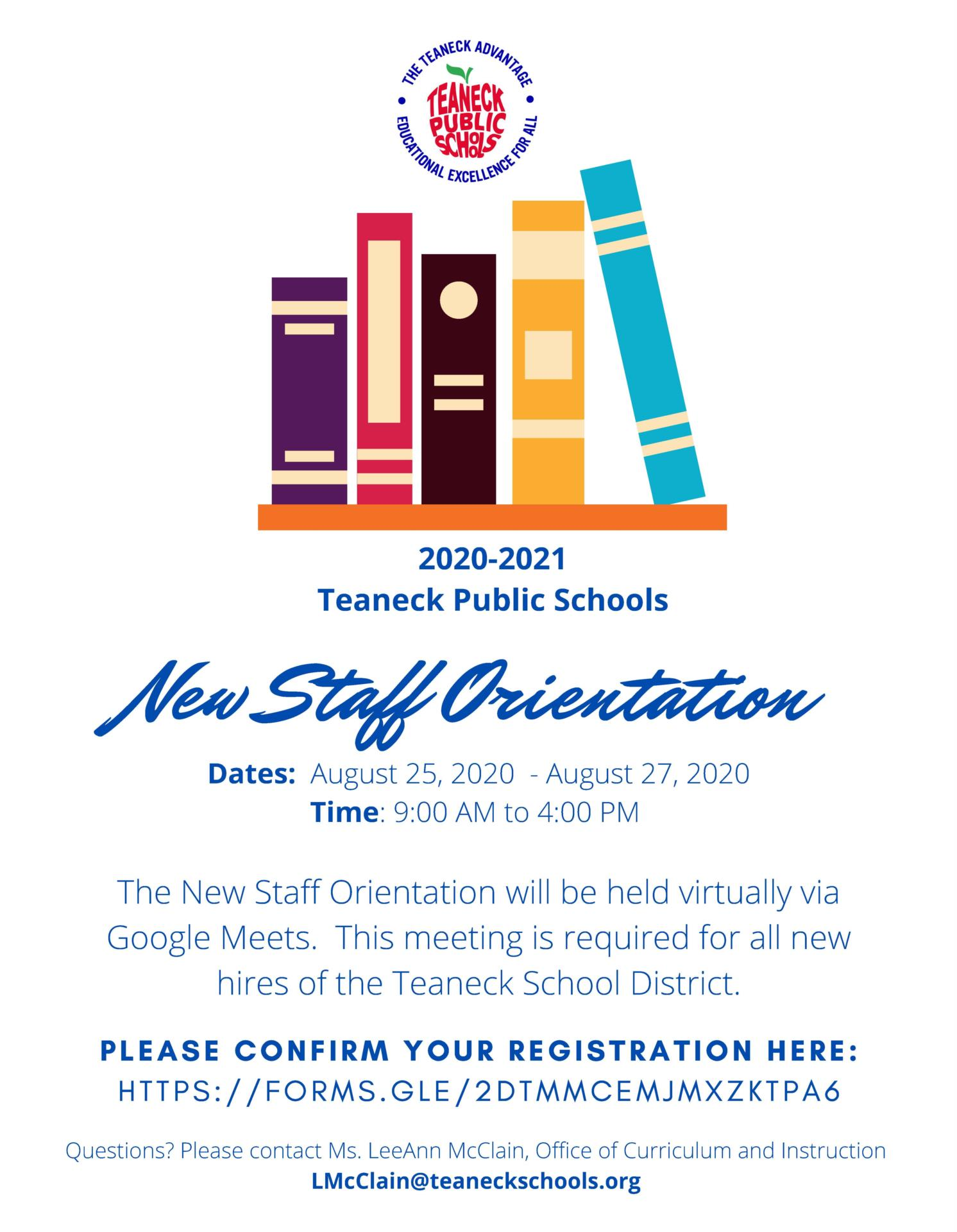 New Teacher Orientation - 2020/2021 School Year