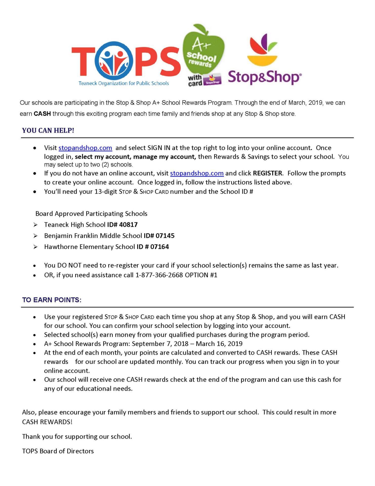 TOPs Stop & Shop