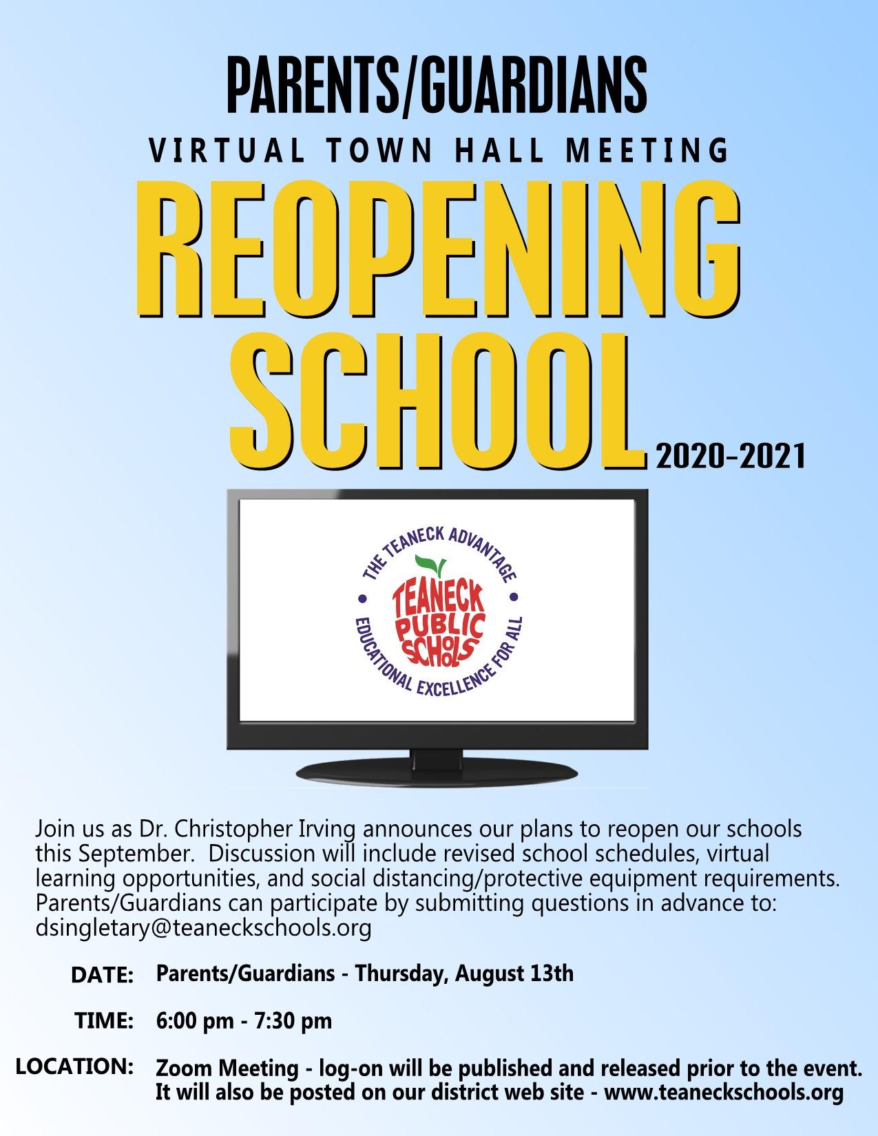 Parent Virtual Town Hall