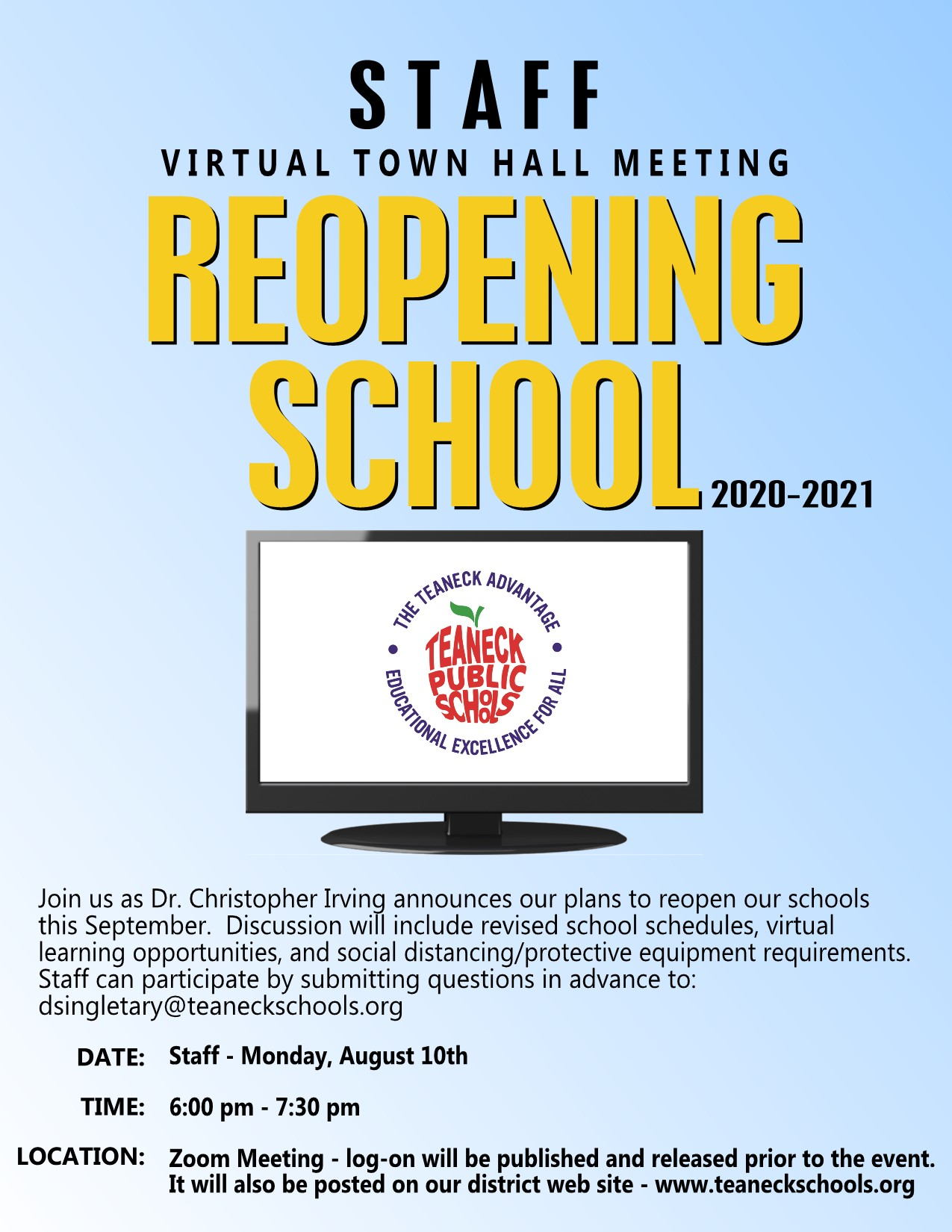staff town hall meeting
