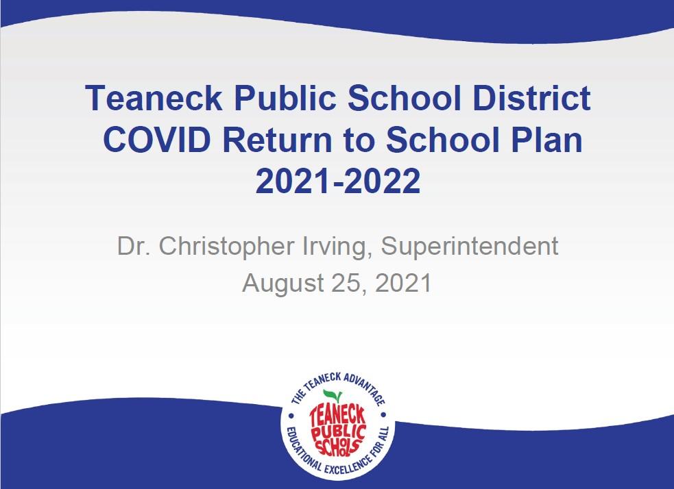 TPS Return to School Board Presentation: August 25, 2021