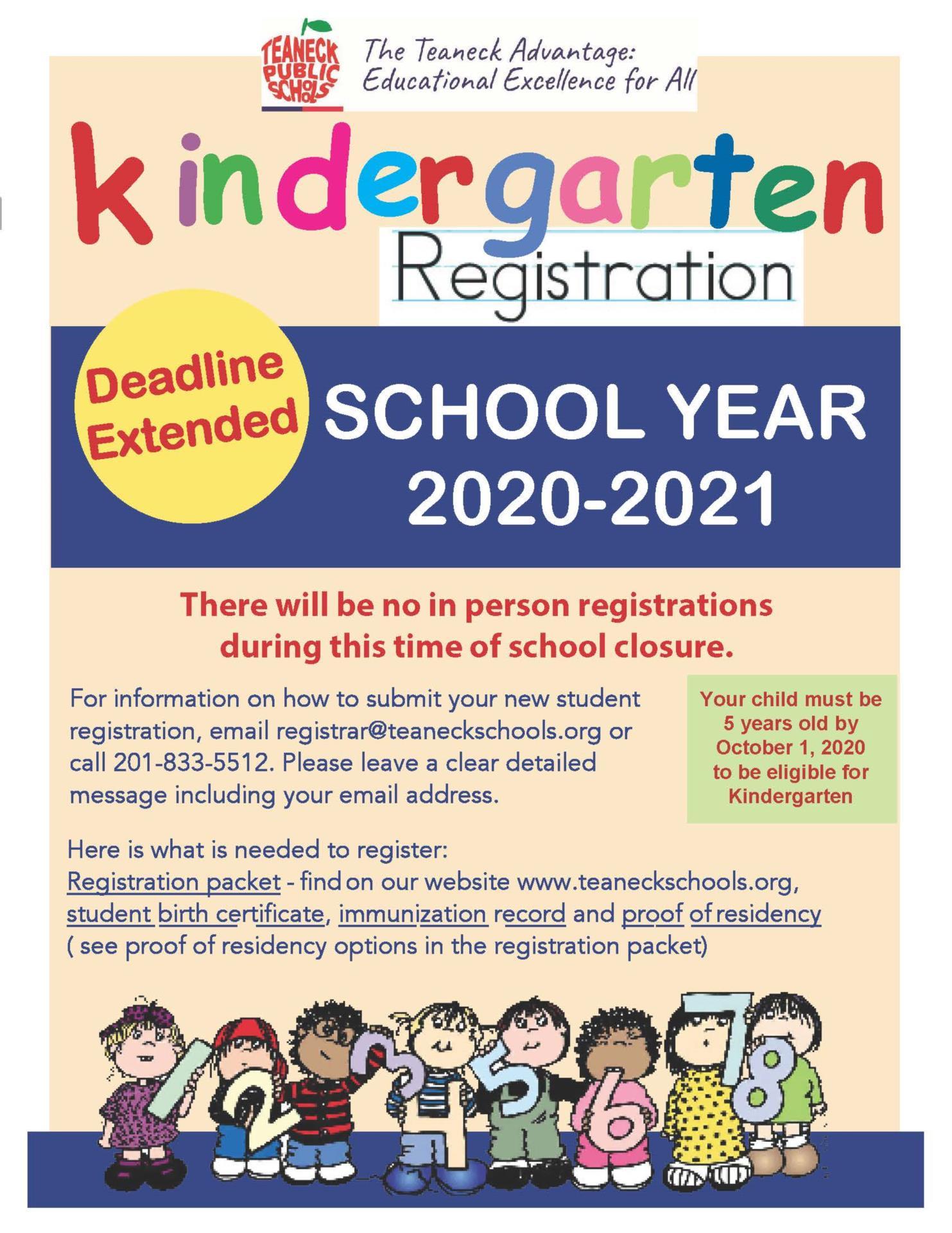 Kindergarten Flyer 2020-2021