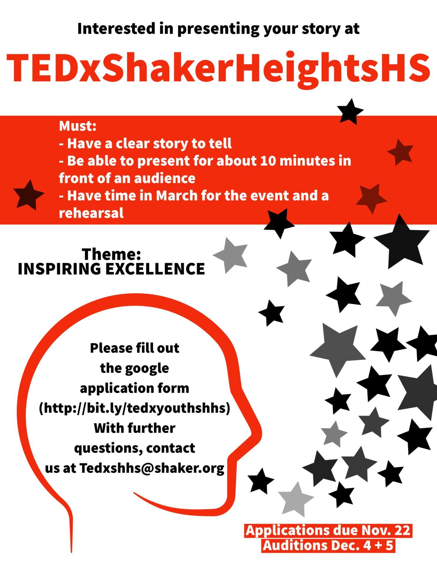 TEDx Talk flyer