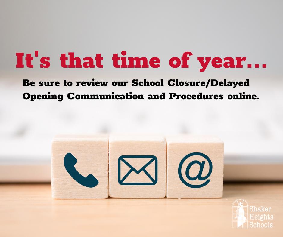 Review School Closure Procedures