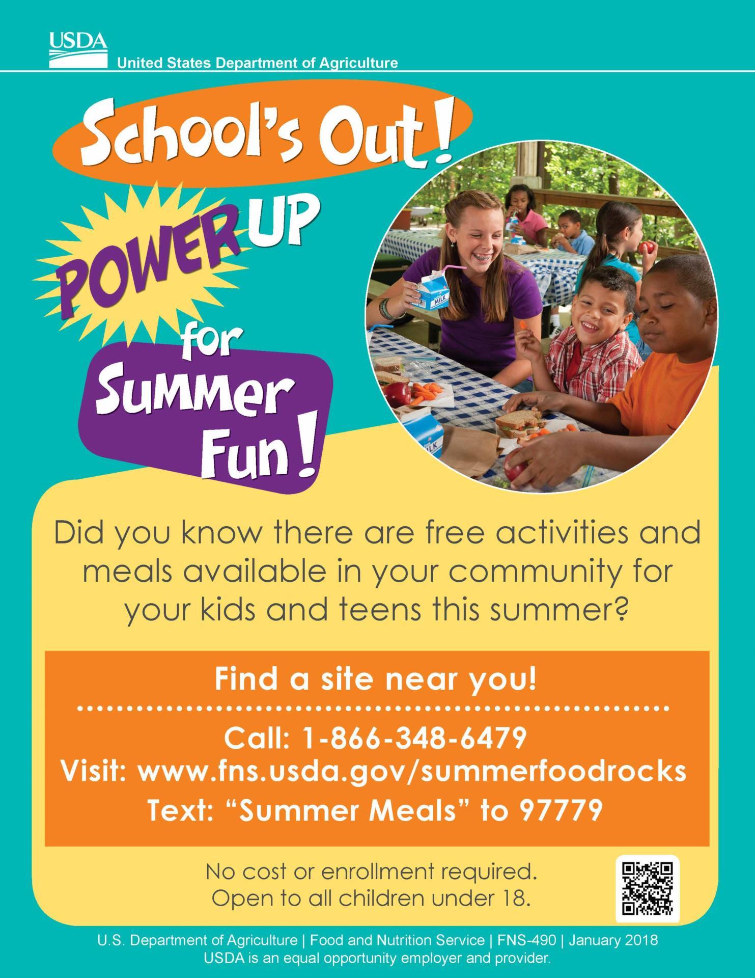 Free Summer Meals Flyer