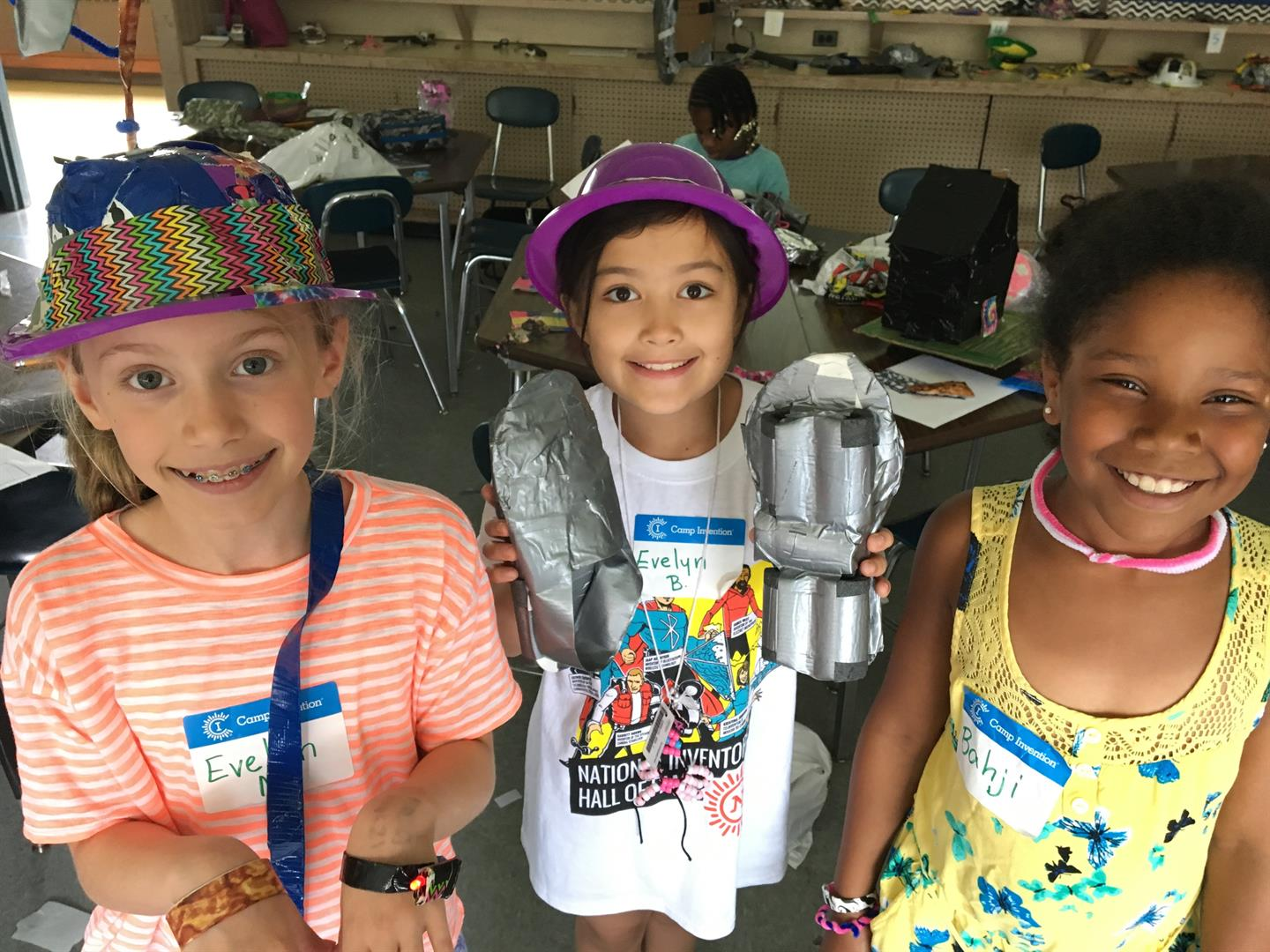 Camp Invention students