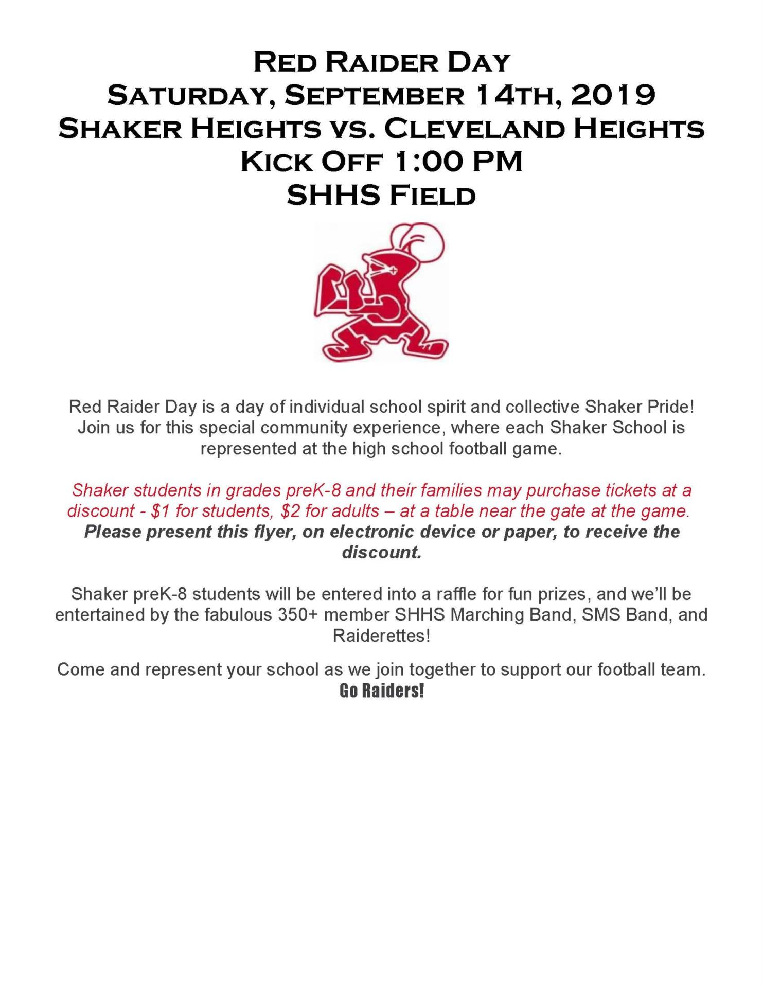 Red Raider Day Flyer