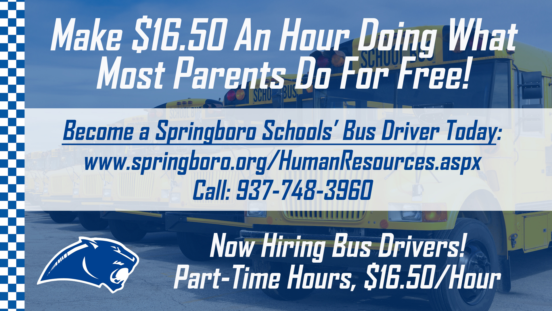 Now Hiring: Bus Drivers