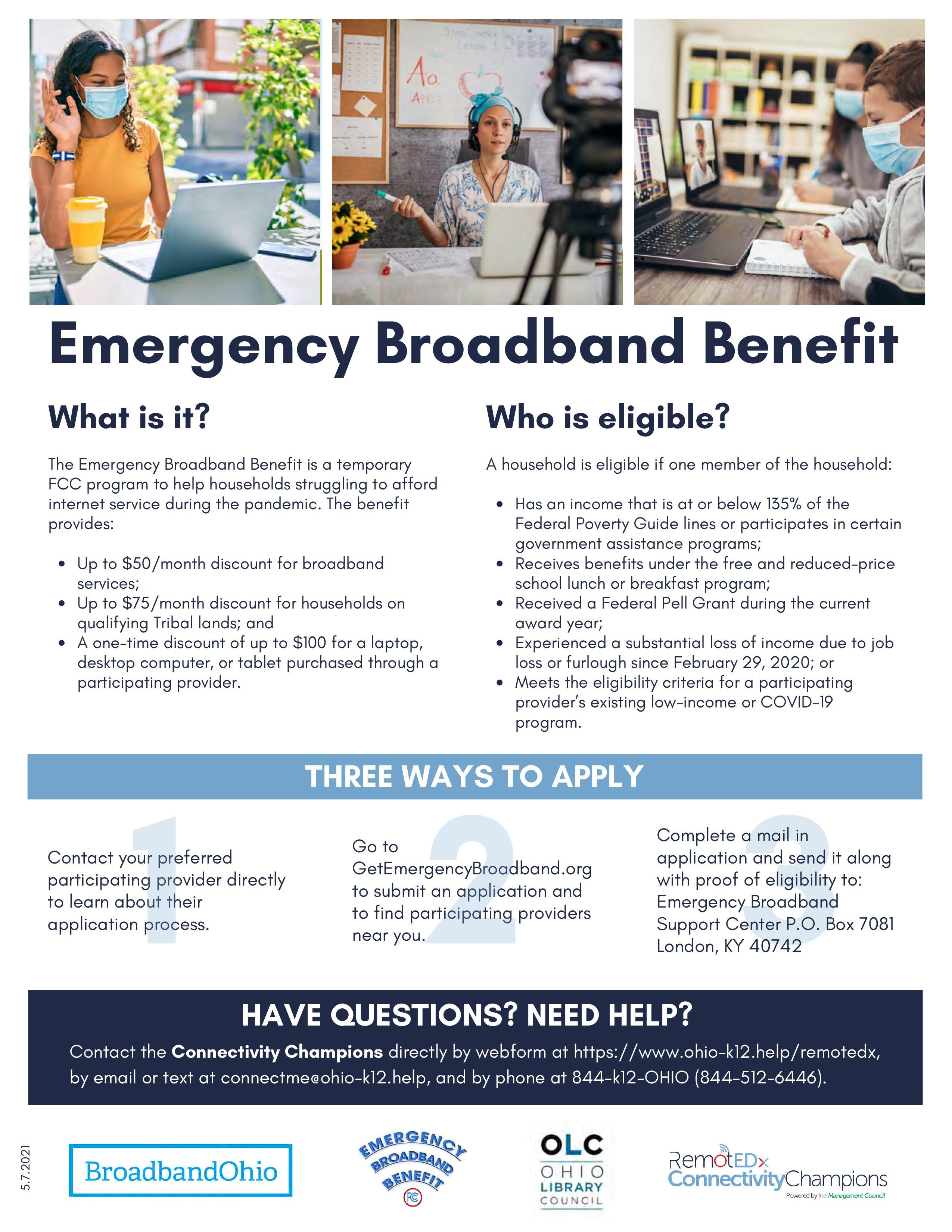 Emergency Broadband flyer