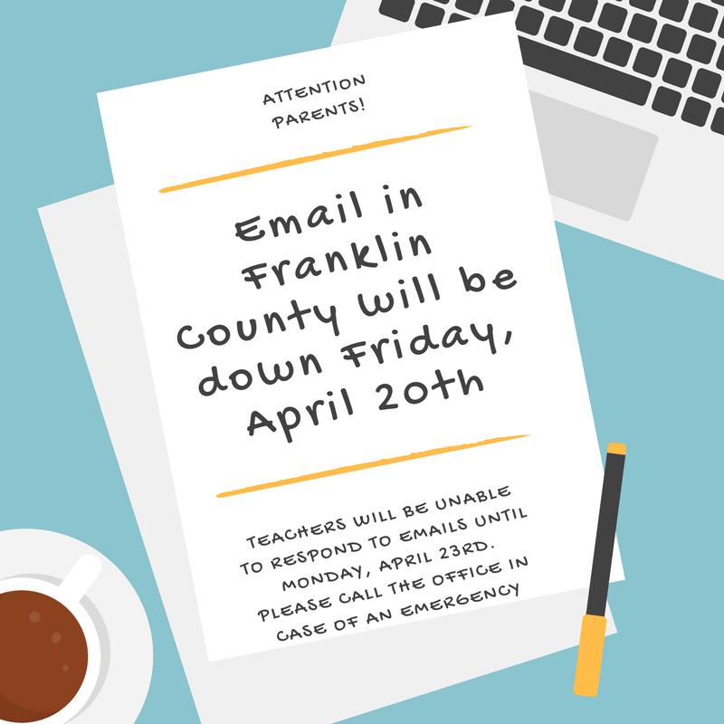 Email will be down Friday, April 20