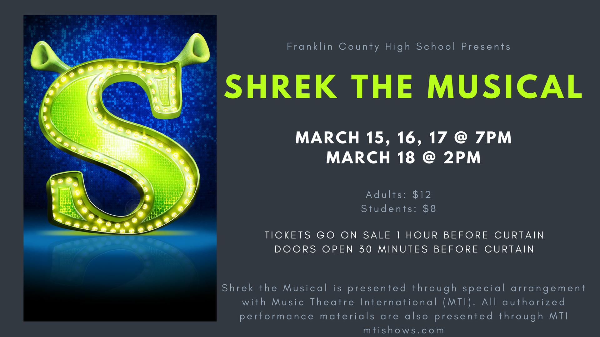 Shrek the Musical March 15-18