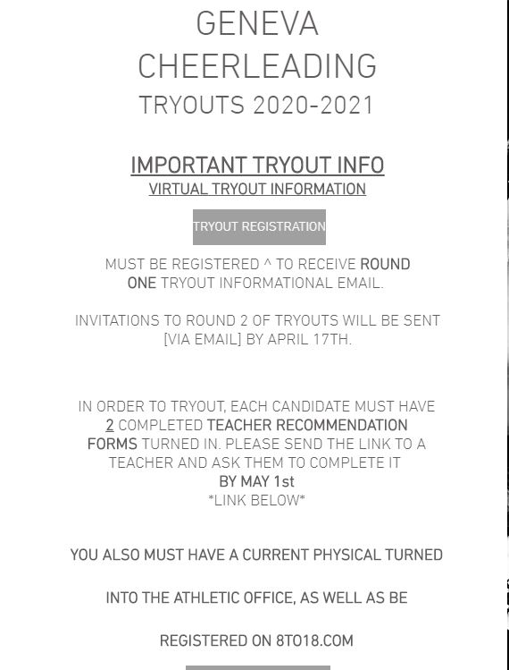 Cheer Team Tryout Information