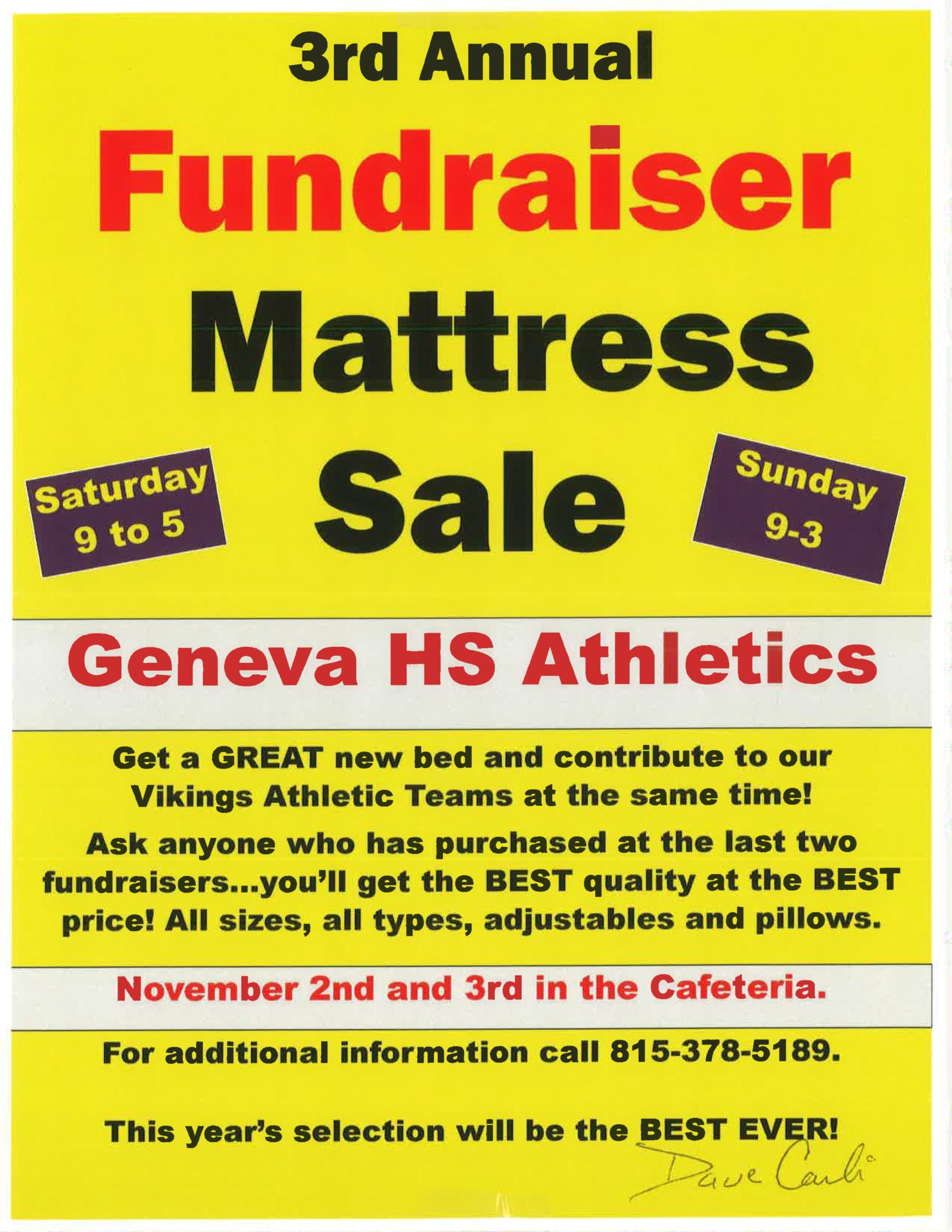 3rd Annual Mattress Fundraiser