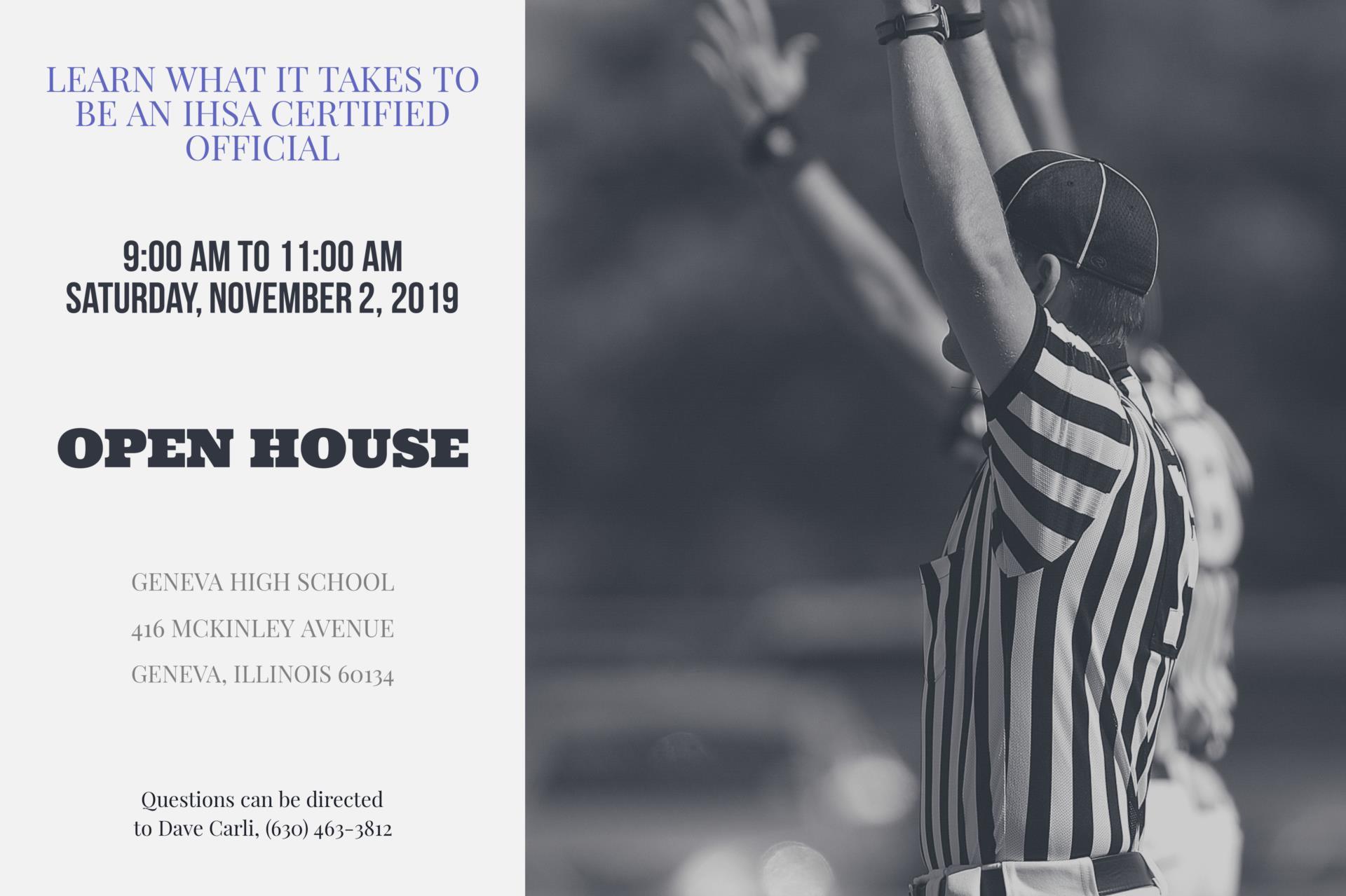 IHSA Officials Open House