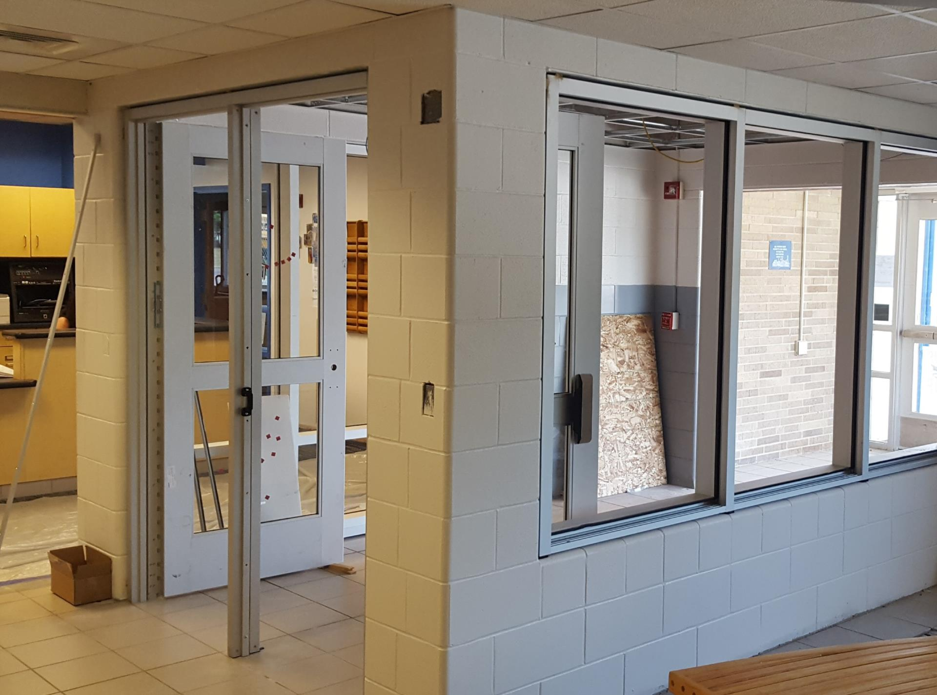 New Middle School Security Entrance