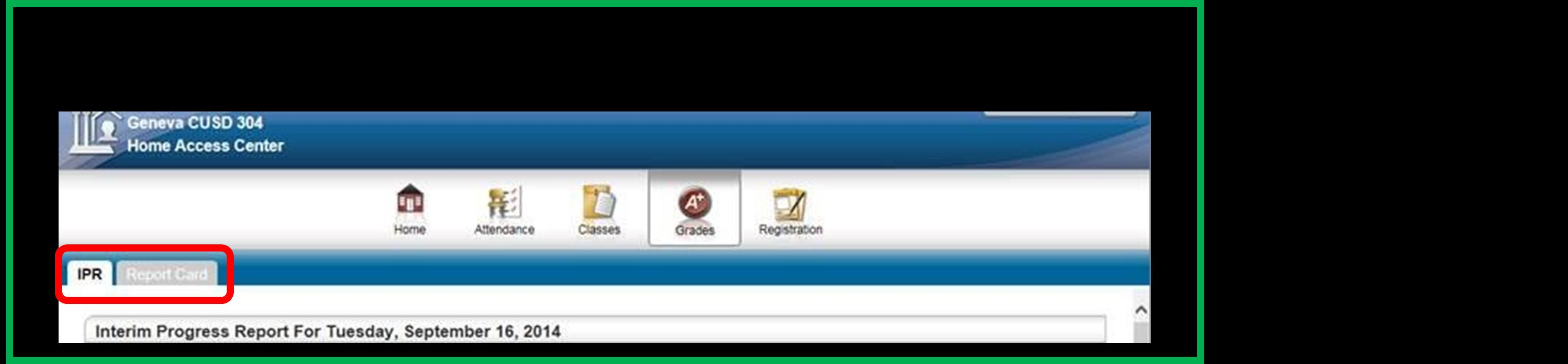 Progress Reports Screen