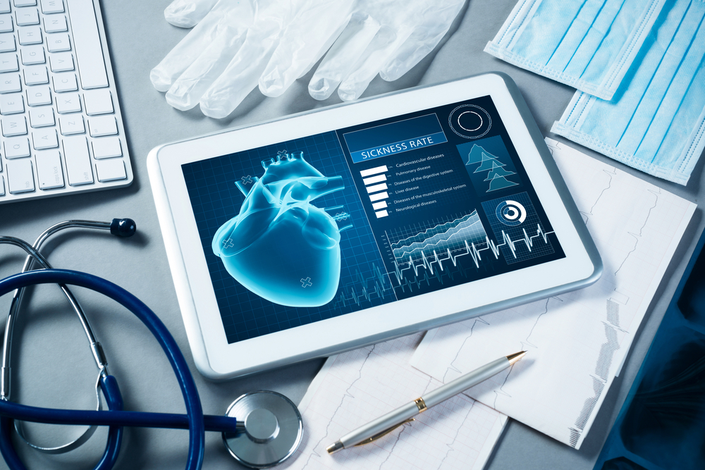 Tablet with healthcare information