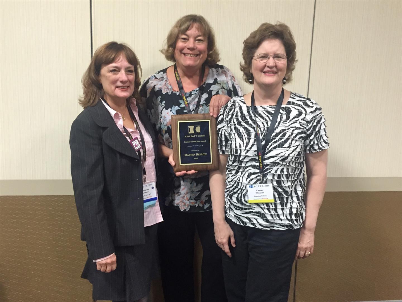 Martha Belhow Receives Teacher of Year Award