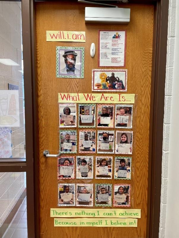 classroom door celebrating Black History Month