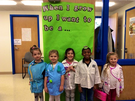 students dressed up as nurses and doctors