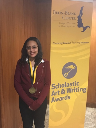 student who received Scholastic Gold Award