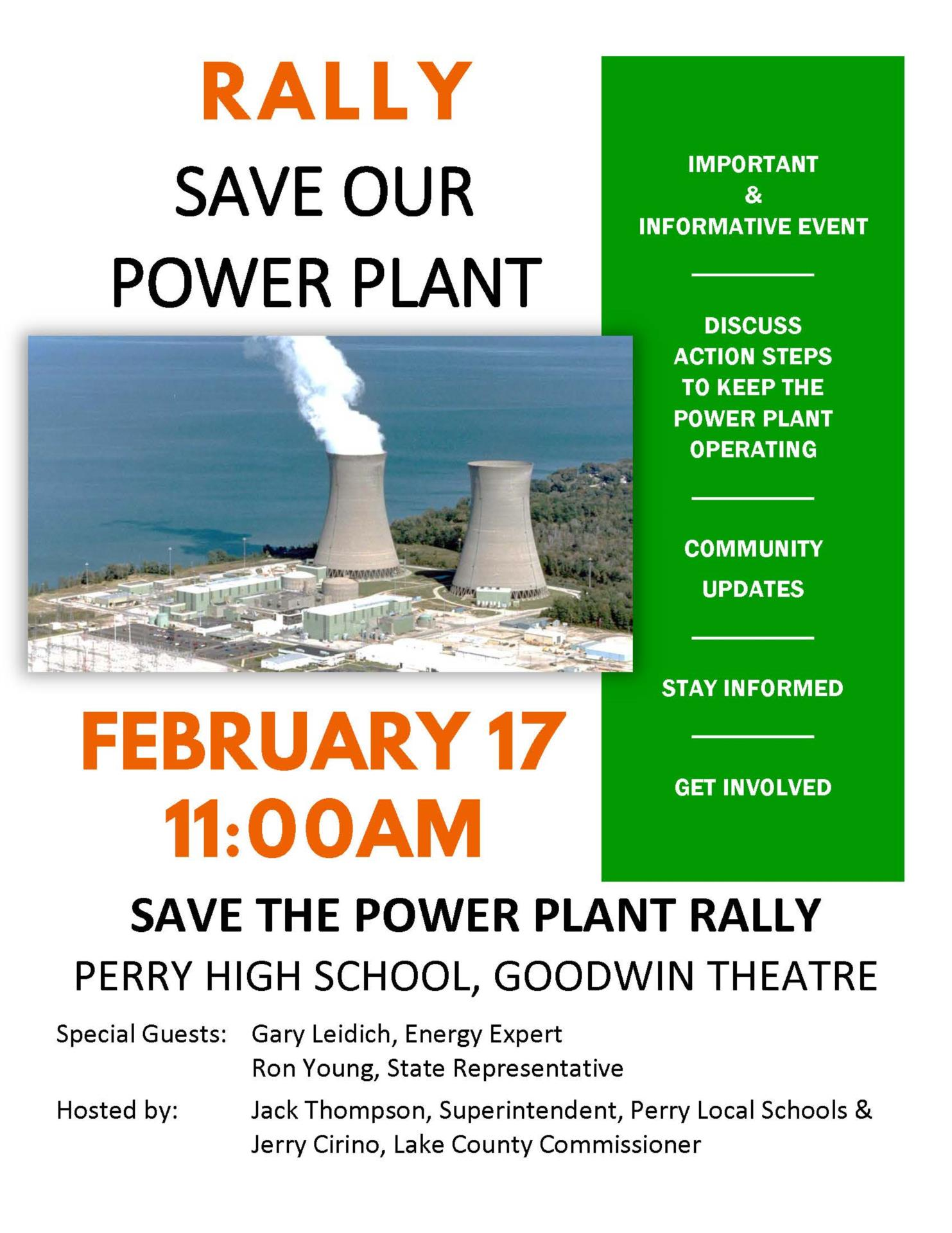Power Plant Rally Flier