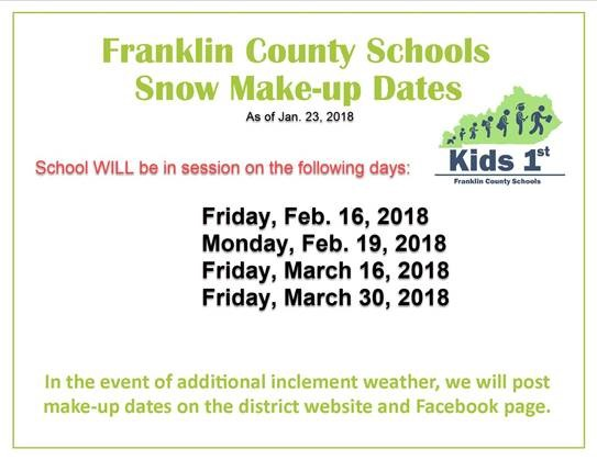 FCS Makeup-Dates as of Jan.23rd, 2018
