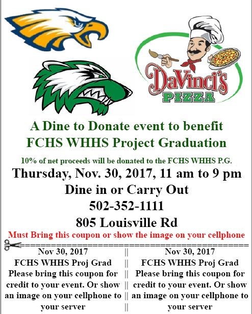 Dine to Donate for Project Graduation
