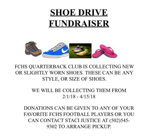 FCHS Quarterback Club Shoe Drive