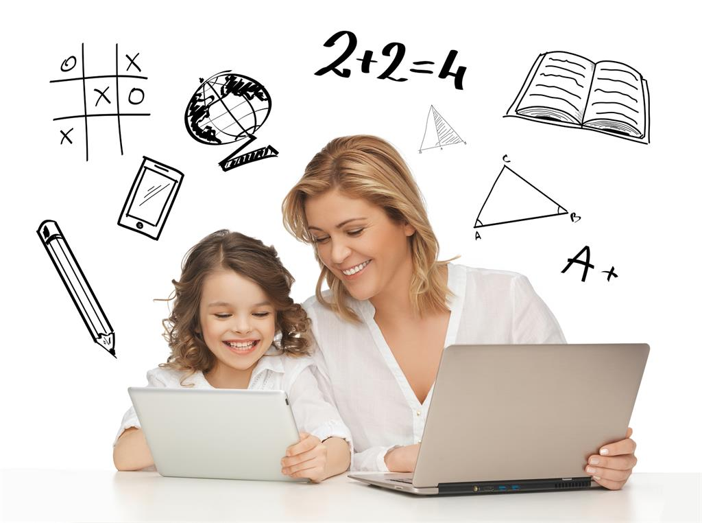 Parent at Computer with student