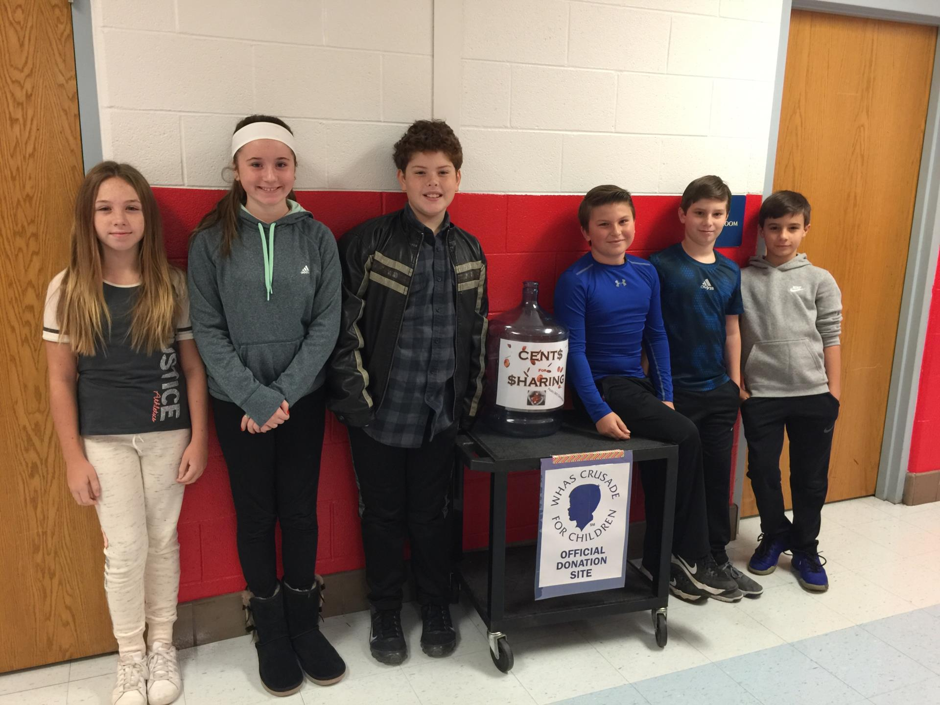 Students helping raise money for crusade for children