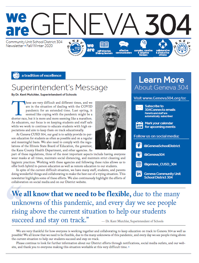 Geneva Newsletter Cover Click to View