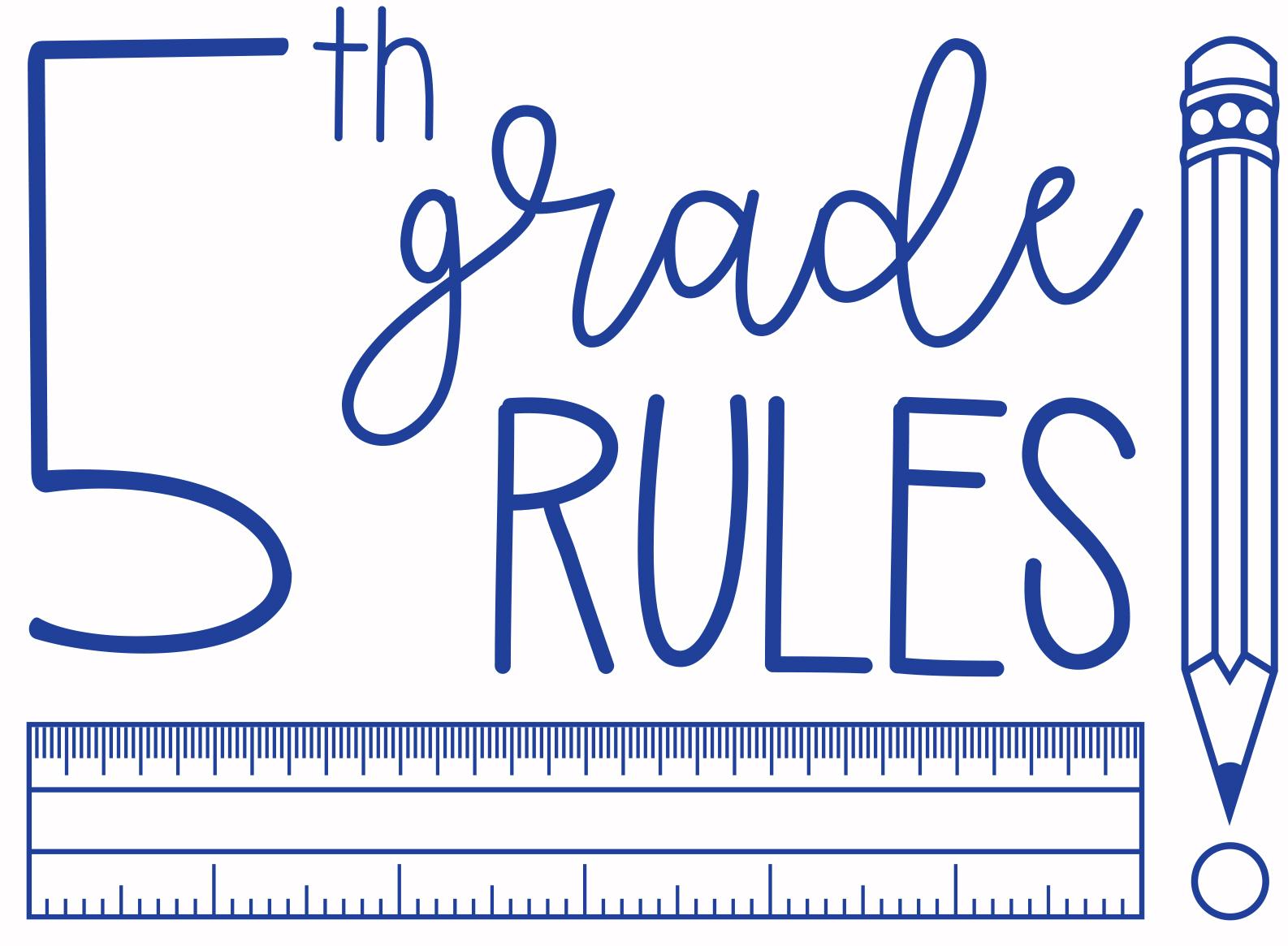 Fifth Grade Rules Logo