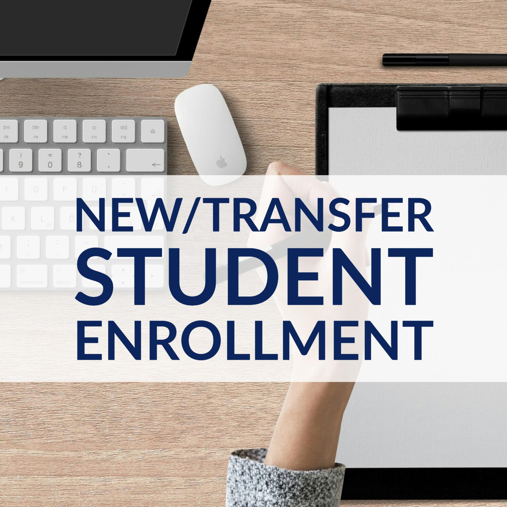 New Student Enrollment Button