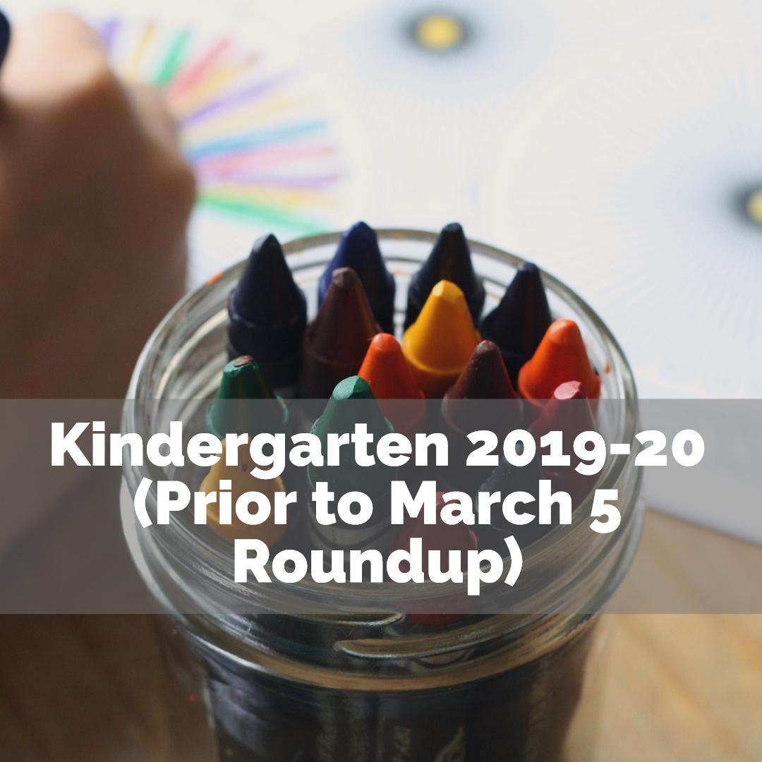 Kindergarten Fall 2018 Enrollment Button