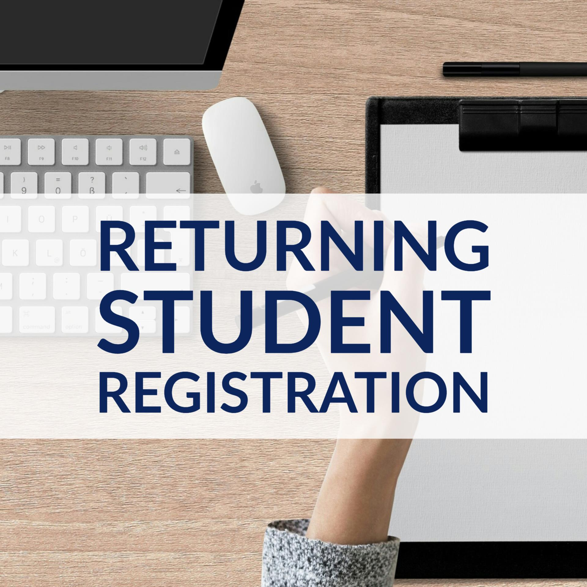 Returning Student Enrollment Button