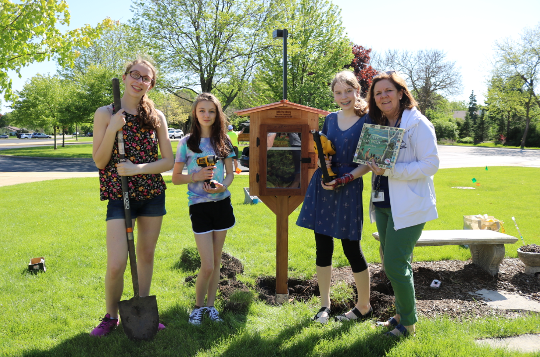 Girl Scouts Donate Little Free Library to WAS