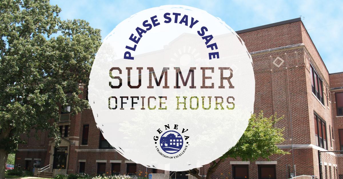 Summer Hours 2020