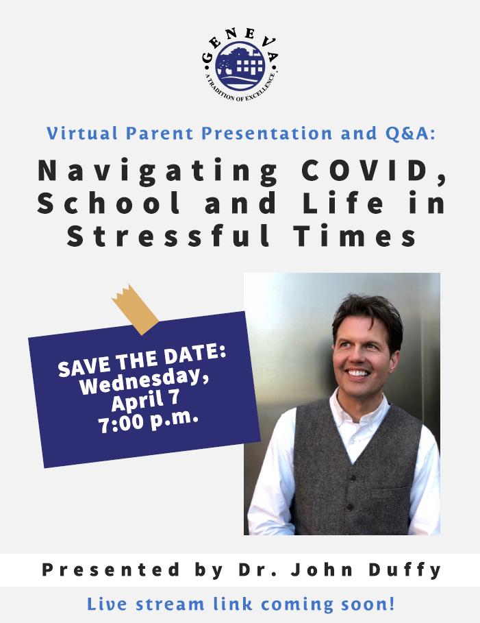 Save the Date Parent Presentation April 7