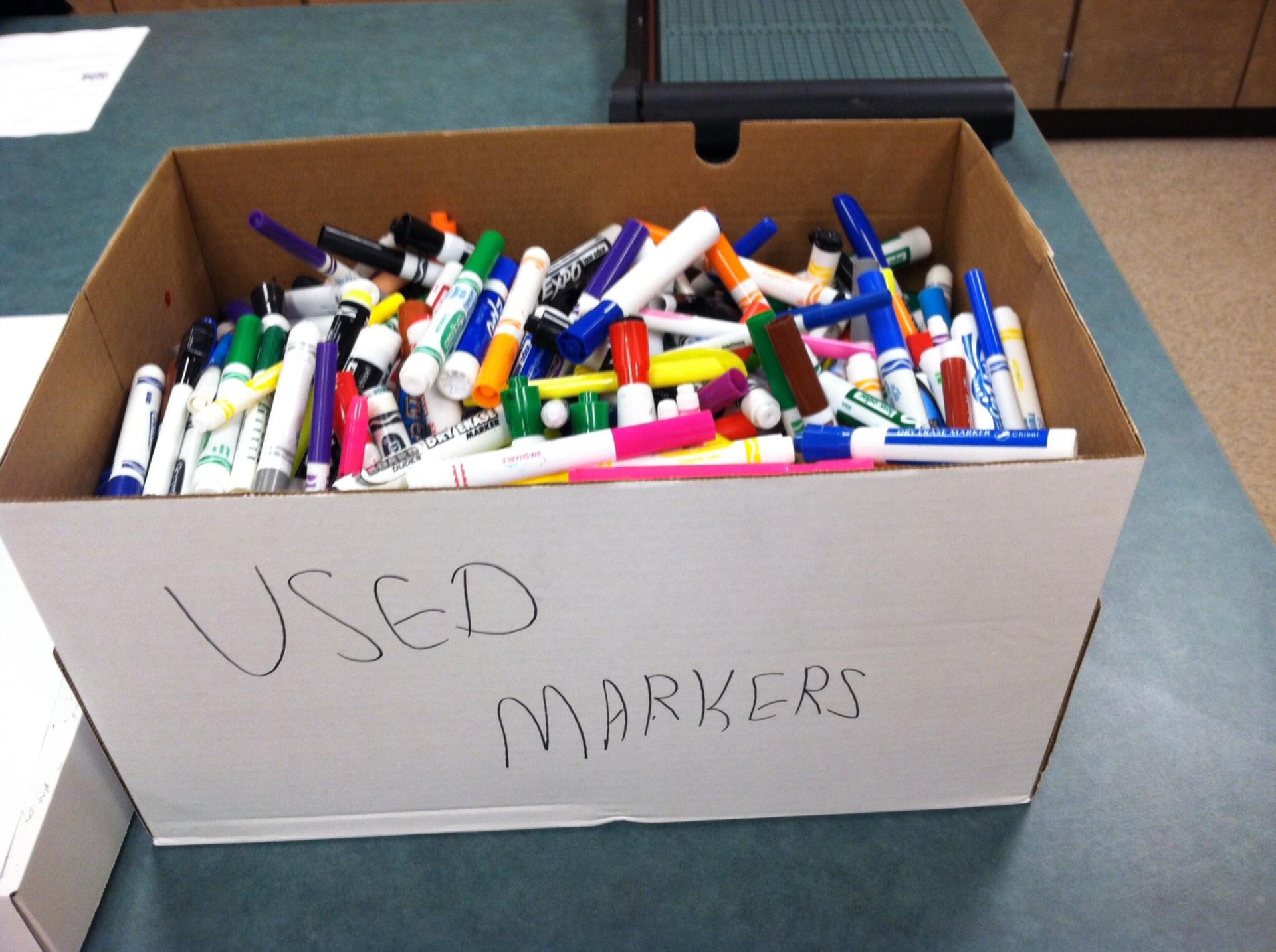 Green Team Marker Donation Box